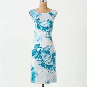 Maeve | Marbled Waters Silk Blend Shift Dress sz 6